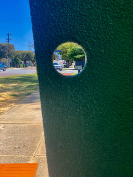 Through the hole at the bus stop no2 16/11/2020