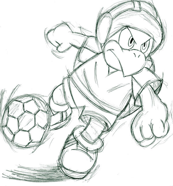 super mario soccer coloring pages - photo#5