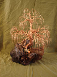 Copper wire willow tree