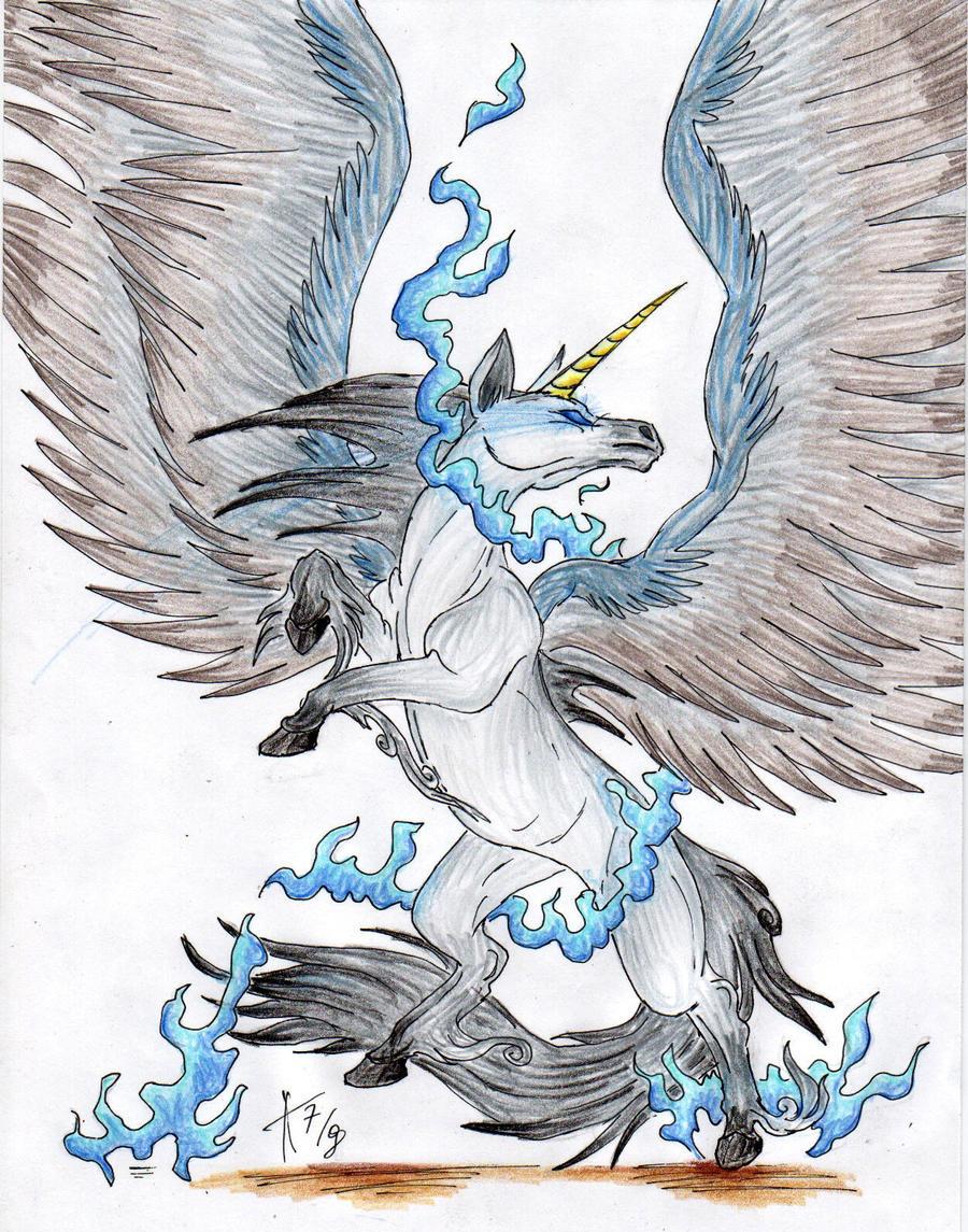last winged unicorn by arven92 on deviantart