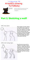 Drawing A Wolf Tutorial Part 1
