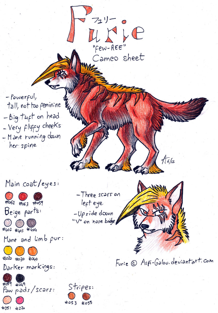 Furie Cameo Sheet by ARVEN92