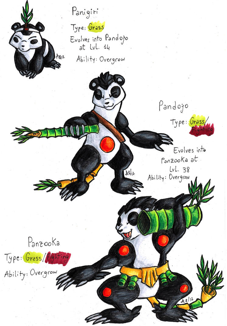 Fake Starters: Pandas by ARVEN92