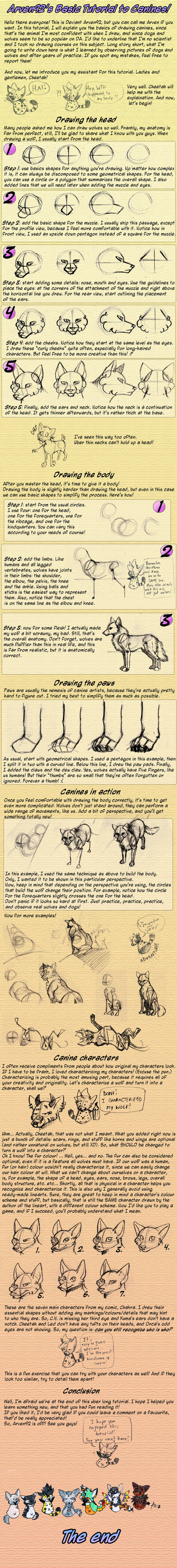 Arven's Basic Tutorial To CANINES by ARVEN92