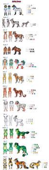 Zodiac Demons Super Giant Ref Sheet