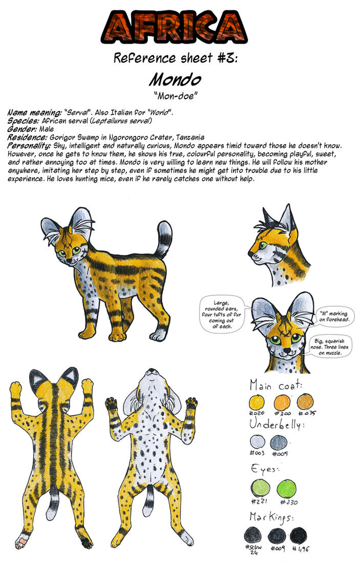 Reference Sheet - Mondo by ARVEN92