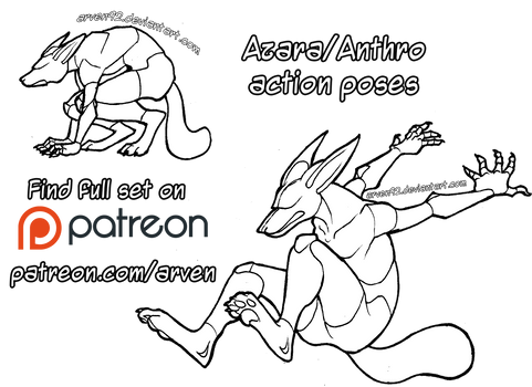 Pose Reference: Anthro Action Poses + DLC