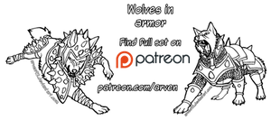 Patreon Linearts - Wolves in Armor + DLC