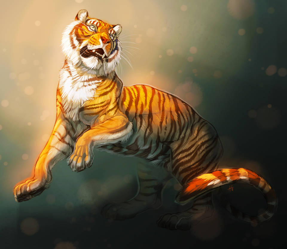 Rearing Tiger by ARVEN92