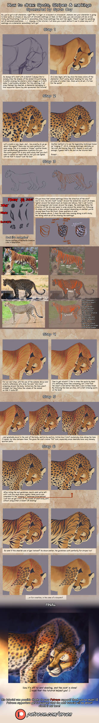 Patreon Tutorial: How To Draw Spots And Markings