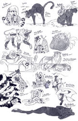 Patreon Sketches December '20 - Merry Christmas!