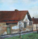 House with two plum trees
