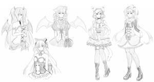 Sketch Commissions by neruteru