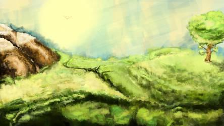 Cute landscape by TiZiS