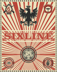 Sixline War Stamp in White by sixlinepunk