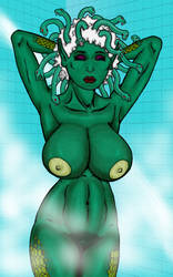 Medusa In The Shower by Grey-Garou