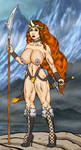 Warrior Woman In The Mountains by Grey-Garou