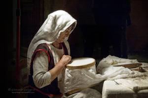 The lacemaker - Homage to Johannes Vermeer by KangTengri