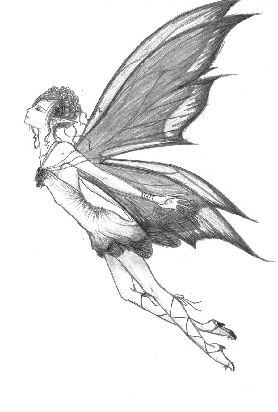 Fairy sketch by animeghostygirl on DeviantArt