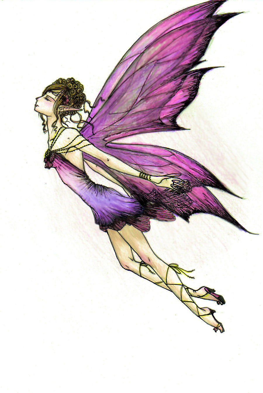 Fairy sketch Colored by animeghostygirl on DeviantArt