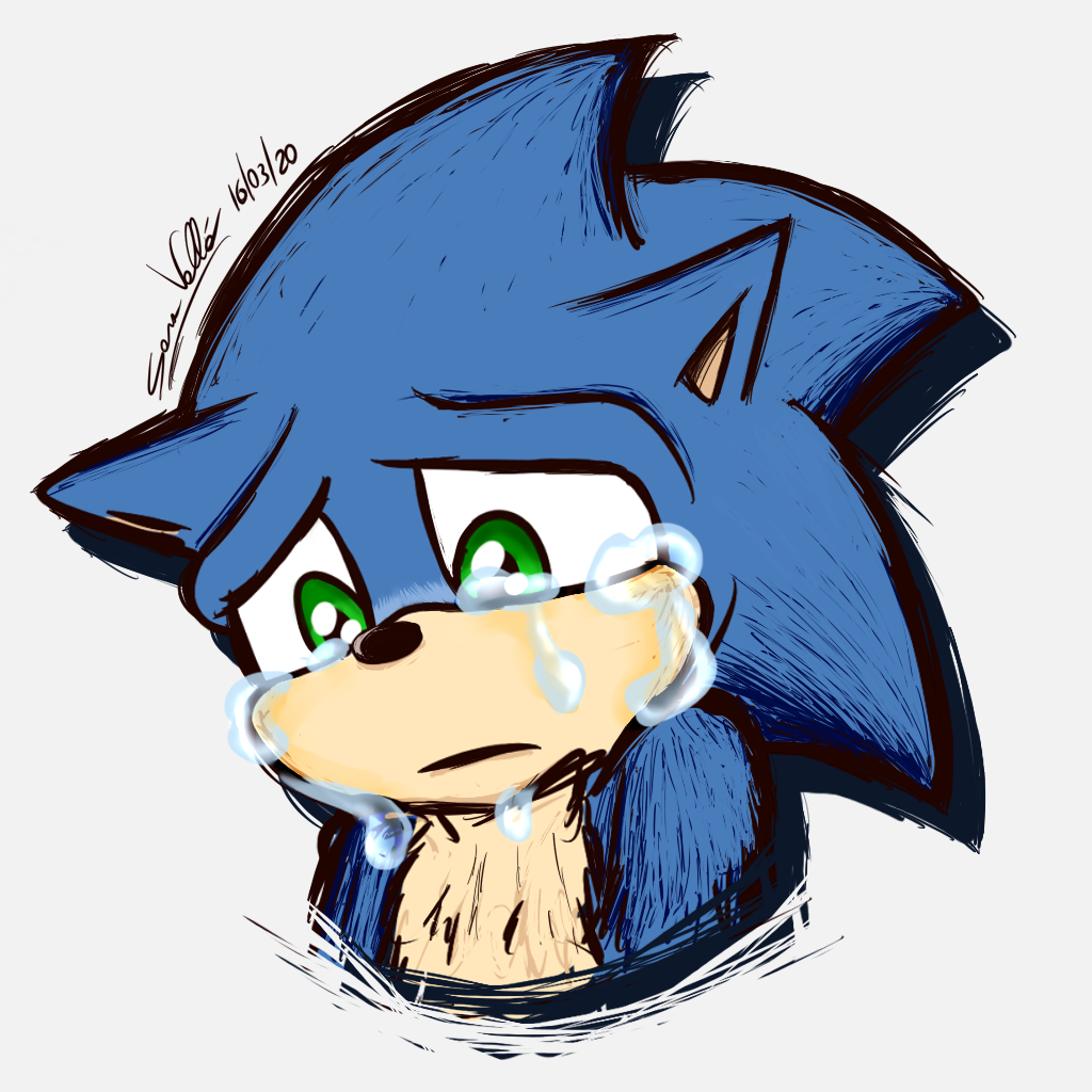 sonic the hedgehog 2020 movie drawing
