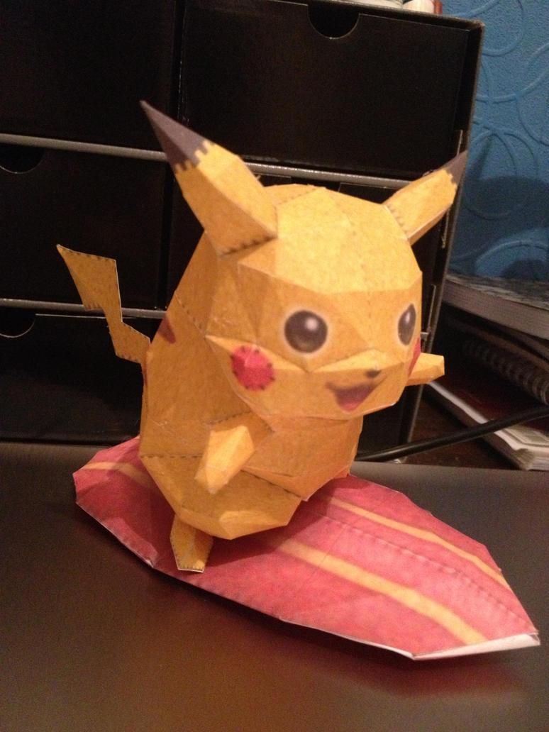 pikachu paperkraft by magicalyuki