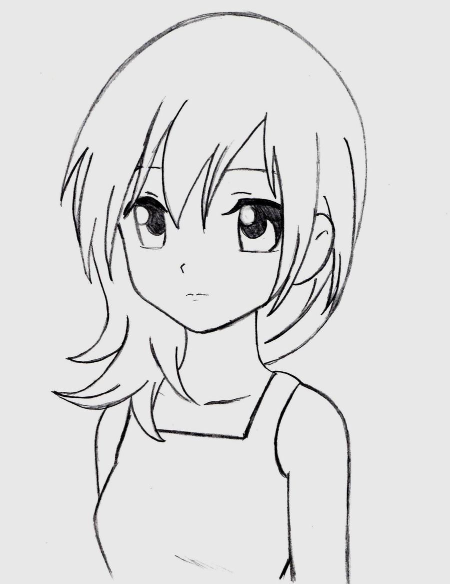 Namine (manga style sketch) by SummonerDagger88 on DeviantArt