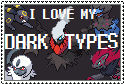 Dark type pokemon stamp