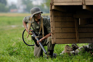 German soldier with flamethrow by plandeka
