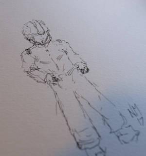 Commander Keen Inktober Sketch 10 7 17