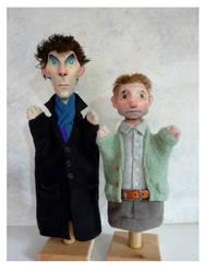 Sherlock Hand puppets by sueworld