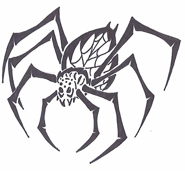 Tribal Spider by AmyWolfie on DeviantArt