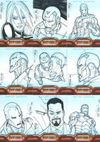 Iron Man 2 card art Set 1 by UnderdogMike