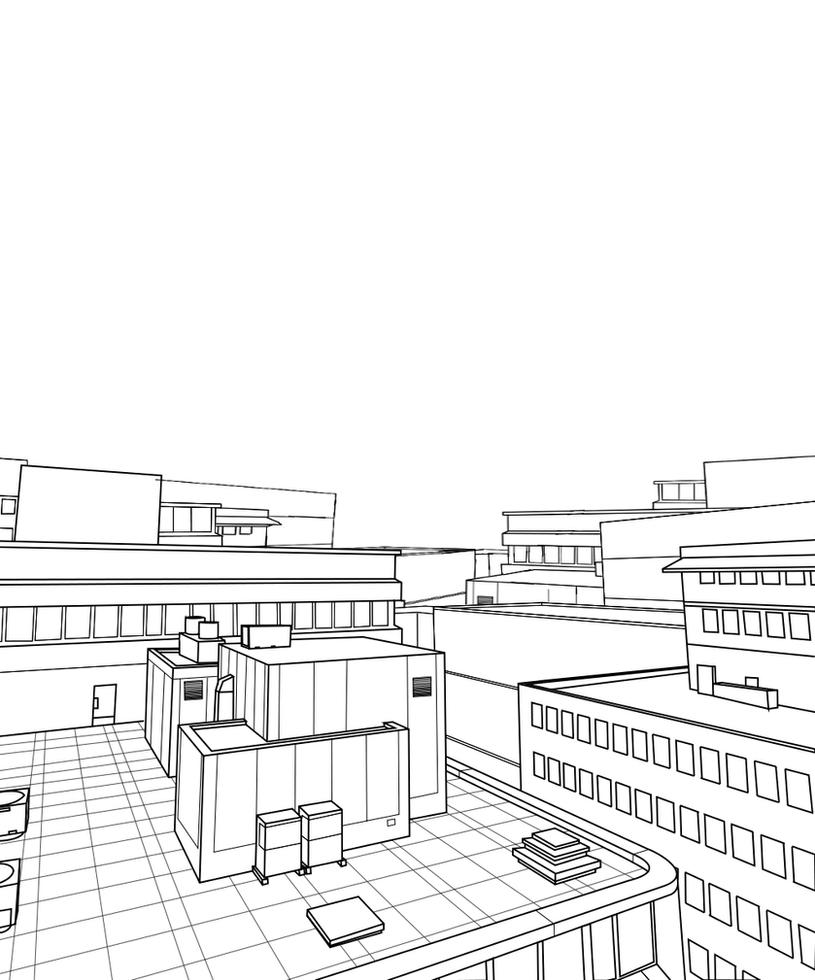 Line Art City : Free city back drop lineart by hitoryu on deviantart