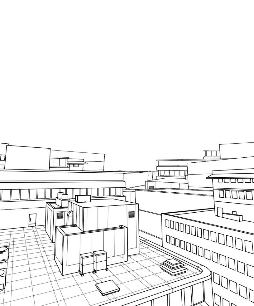 Line Art City : Free city back drop lineart by hitoryu on deviantart