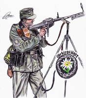Gebirgsjager Anti Aircraft Gunner by DeoKristady