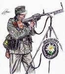 Gebirgsjager Anti Aircraft Gunner