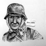 Face of War (ballpoint pen drawing)