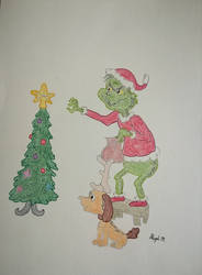 The Grinch steals Christmas by pink-purple-madness