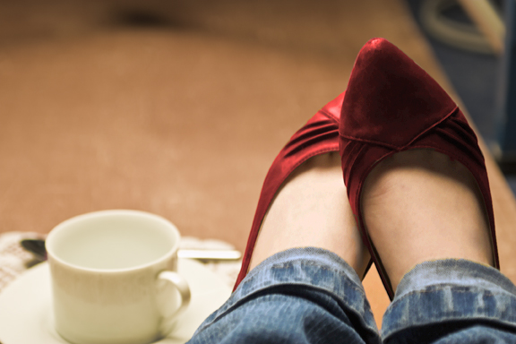 coffee shoes by footia