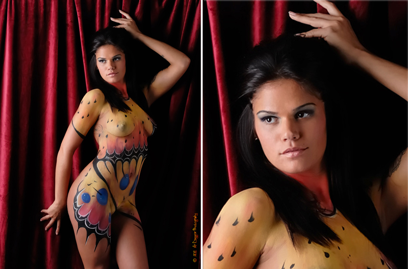 Butterfly Body Paint - MAKEUP by foxkat