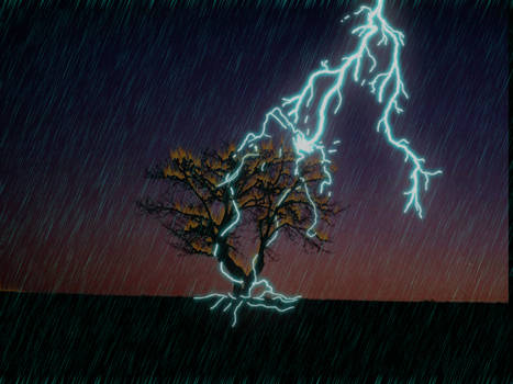 lightning strike by theallmightybob