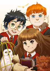 Harry Potter: Golden Trio by PatronusZone