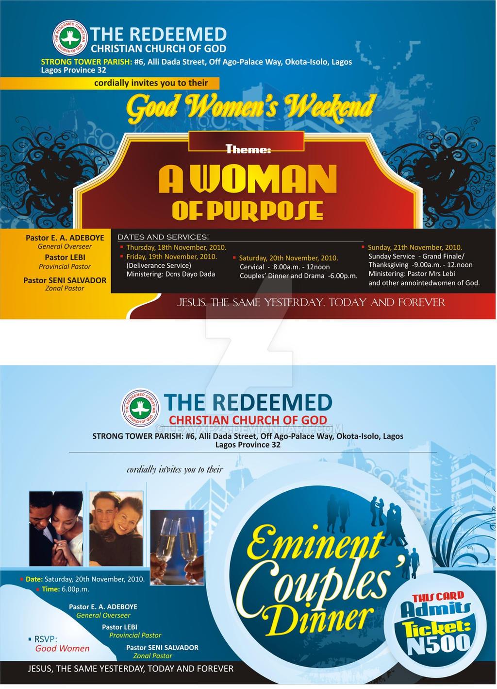 Redeemed Church Dinner Card Design Lexyxp24 By Lexyxp24 On