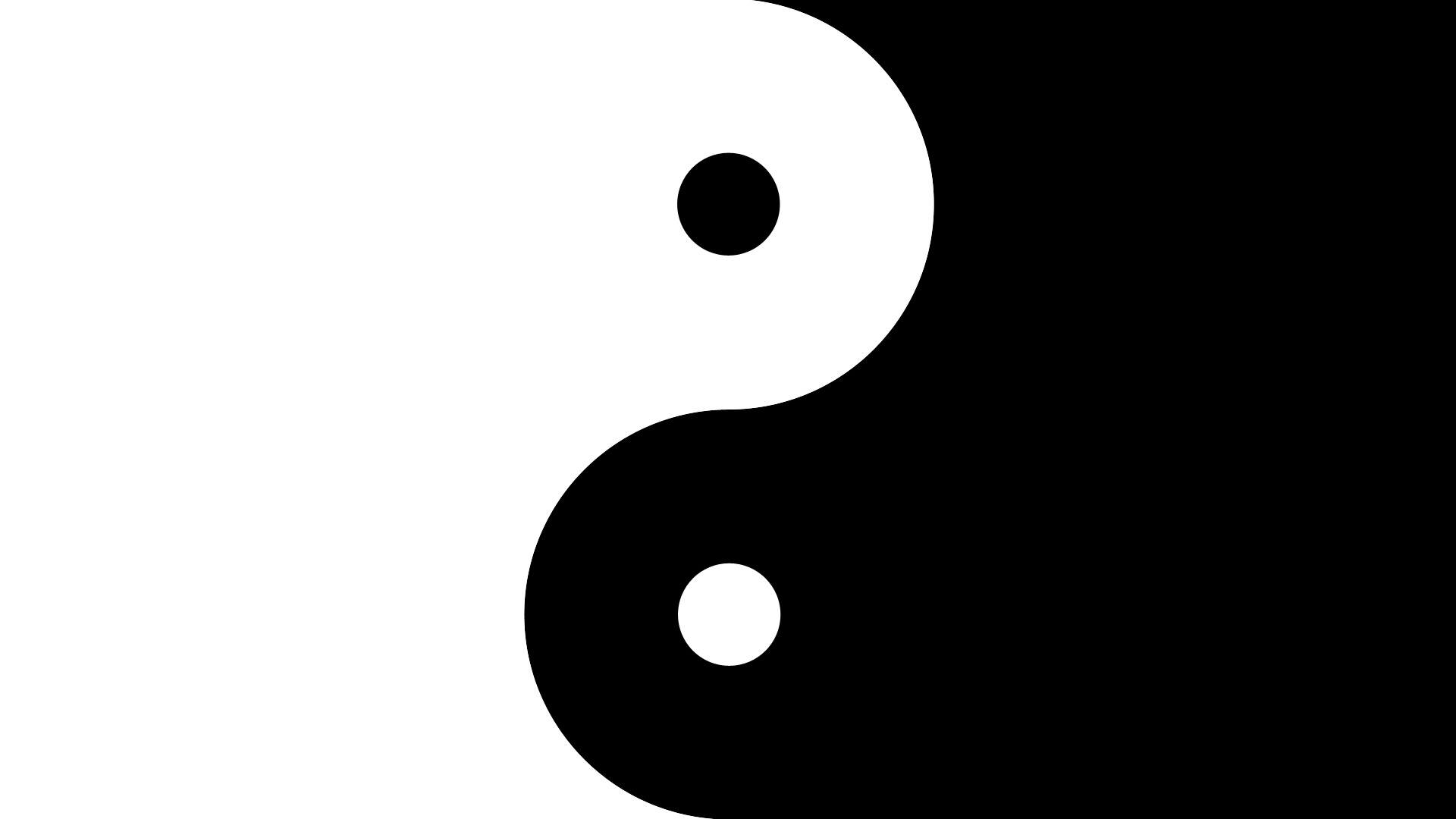 How to create visual relationships with contrast similarity - Yin and yang wallpaper ...