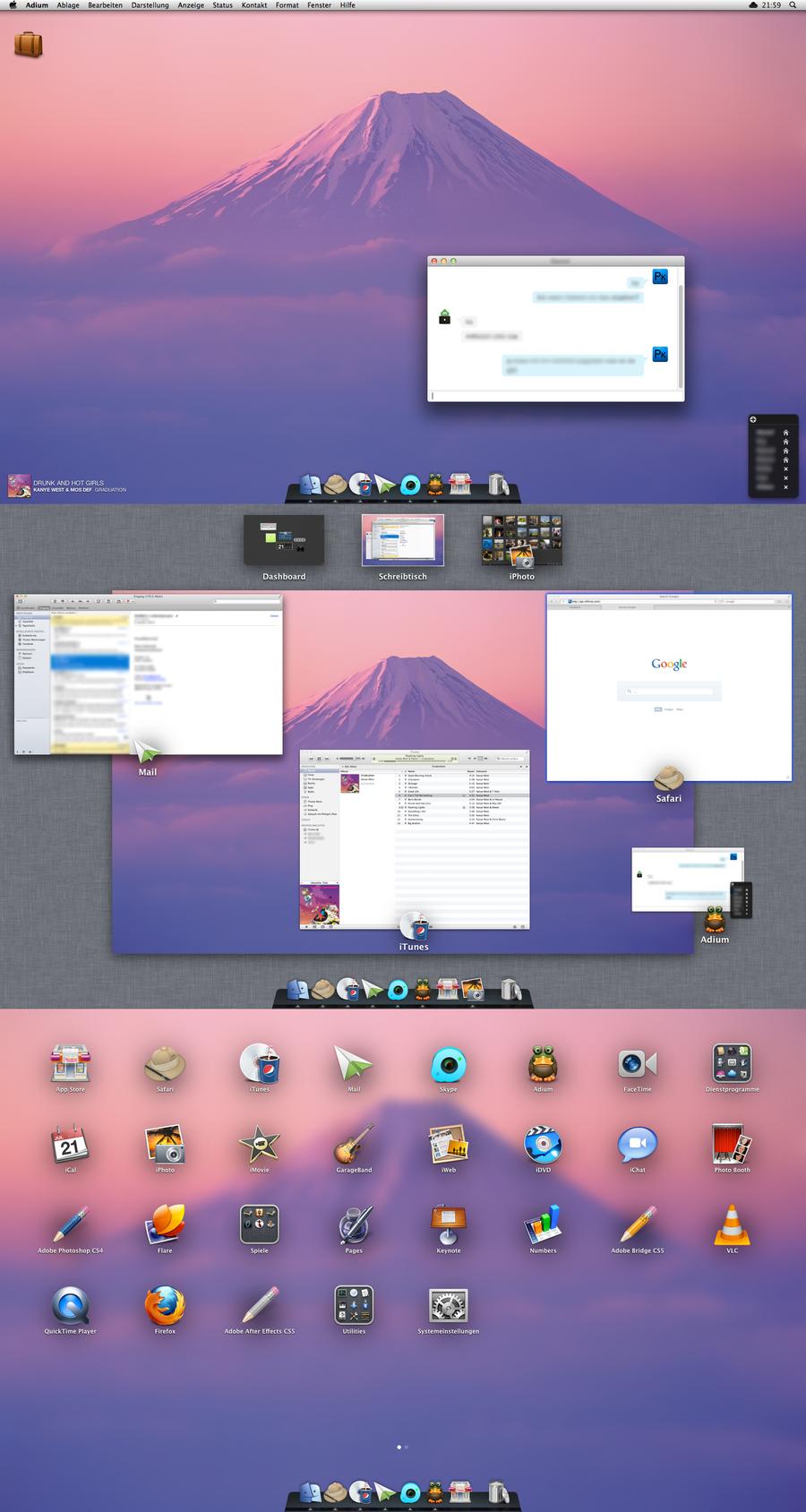 Lion Desktop by SonnyKingBlack