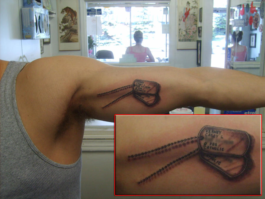 Meat tags by pictures to pin on pinterest tattooskid for Meat tag tattoo