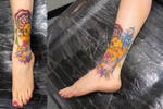 Koi Fish on Ankle