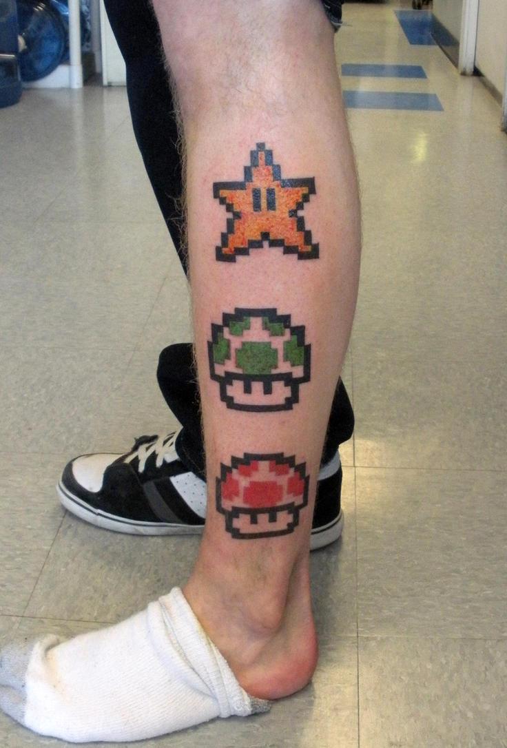 This Leia Tattoo Takes a Stand | Nerdist |Mario Star Tattoo