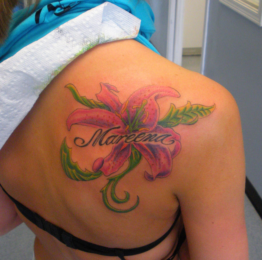 Flower Tattoo With Names: Melissa Tattoo Design: Tattoo Ideas By Faye Sparks